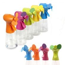 promotion gift cooler water fan,water mist spray bottle fan, mini water spray fan
