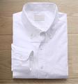 Pure white 2015 novo estilo confortável homens popeline camisa de vestido ocasional