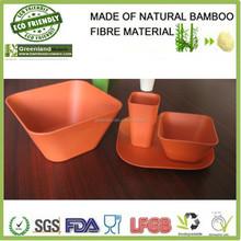 air fresh square shape salad or soup bowl,bamboo fiber dinner set