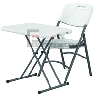 Adjustable height school furniture classroom single desk and chair plstic PE table and seat