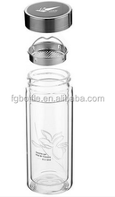 China supplier Glass water bottle