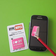 Most popular advertising gifts mobile phone screen cleaner sticker