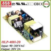 Meanwell led driver 40w 20v 2a HLP-40H-20