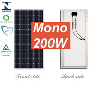 high efficiency 60cells 72cells 12v 200w solar panel mono