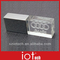 New Arrival LED Glass Gift USB Pen Drive