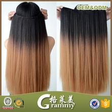Alibaba website wholesale high quality grade 7a straight brazilian colored two tone hair extension