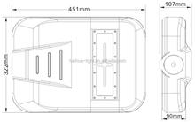 2015 modular design outdoor integrated solar led street light 40w-50w