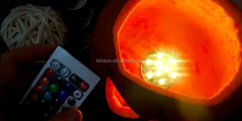 Magic and cheap Led light round base for Thanksgiving hollow pumpkim decoration