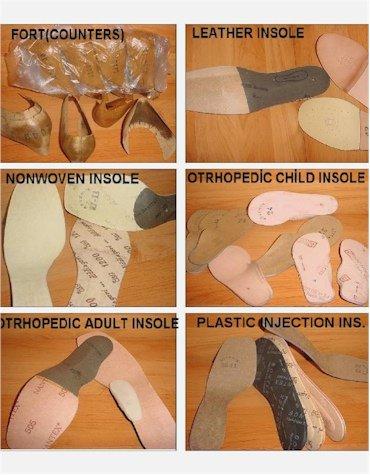 Suola, sottopiede, sottopiede ortopedico, welt, contatore, rivestimento in pelle