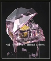 Crystal art & craft Piano decoration Beautiful piano adornment K9 Crystal piano model