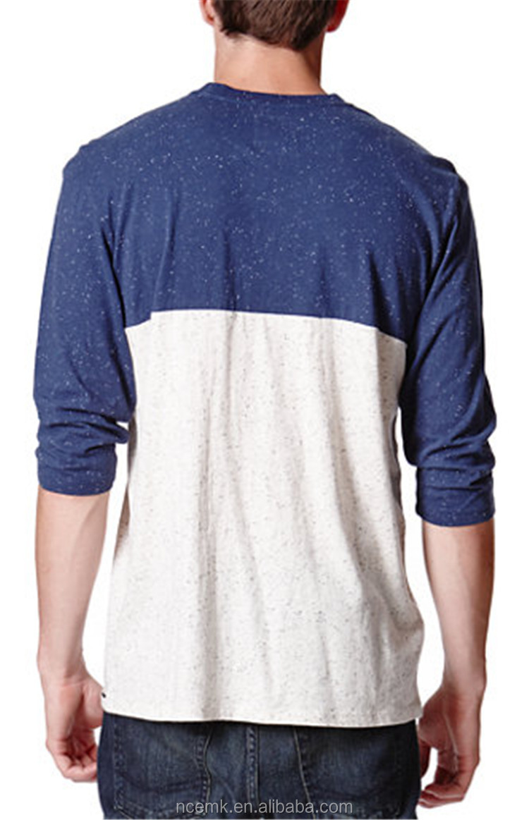 Two color baseball t shirt blank pocket t shirt wholesale for Where to buy blank t shirts in bulk