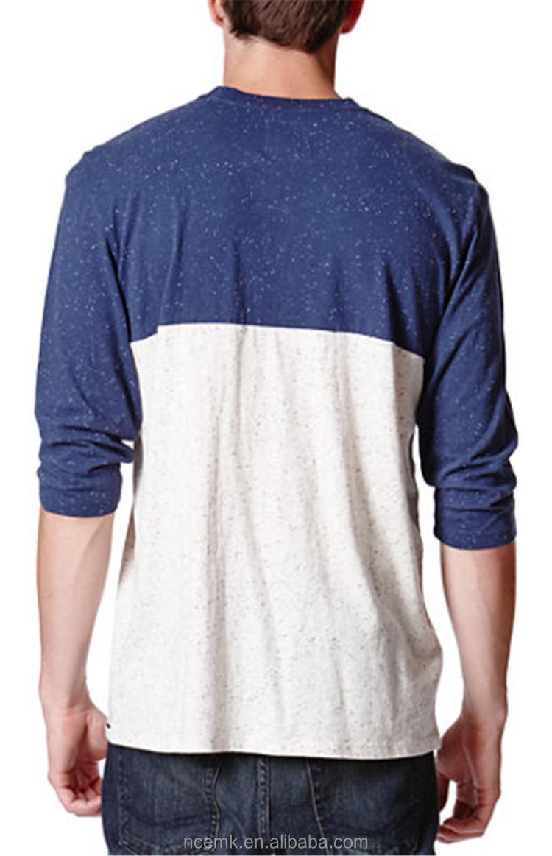 Two color baseball t shirt blank pocket t shirt wholesale for Bulk pocket t shirts