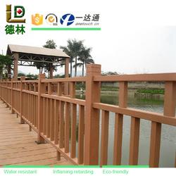 No toxic release wood plastic decorative garden fence