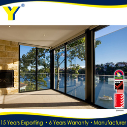 Commercial Aluminum Glass Door Frame With Powder Coated and 10 Years Warranty Supply by YY Construction