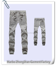 plain sport cotton sweat pants custom blank fleece sweat trousers cheap popular gray Sweat pants