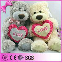 China Cheap Wholesale Plush Bear Stuffed Toys With Heart