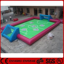 Good quality portable inflatable water soccer pitch, inflatable water football field
