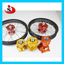 Chinese motorcycle parts Aluminum CNC wheels hubs for Dirt bike wheel rim hub