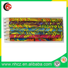 hexagonal shape high quality 5.0mm rainbow color lead rainbow color pencil