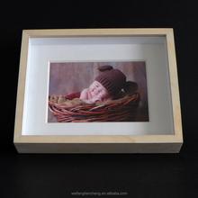 Eco-friendly bulk shadow box frame for baby /wood photo frame online