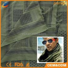 Arabian military knot tying green scarf/headwear/shemagh