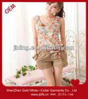 sweet flower fashion vest