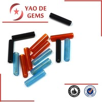 Cylinder Synthetic Black Agate red Ruby Blue Sapphire Stones Agate Tubes