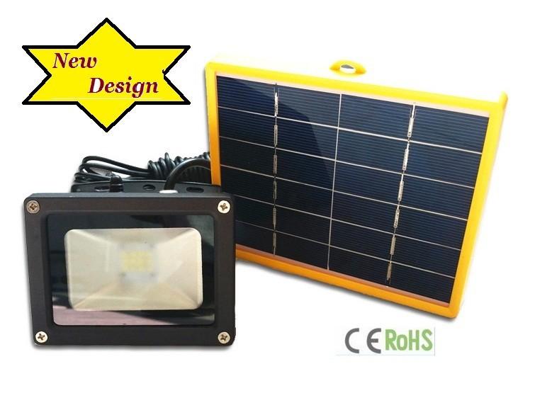 12 SMD led 2200mA battery solar panel outdoor street flood light
