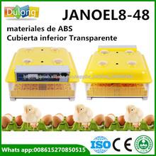 CE aprobado asimiento 48 huevo de codorniz incubadora