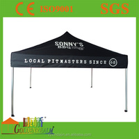 advertising gazebo with table and awning
