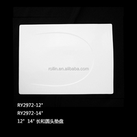 Reataurant porcelain rectangular shape plate restaurant