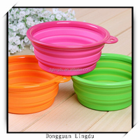 wholesale silicone pet bowl 2015 foldable dog water bowl for small dog