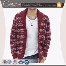 Northern wind knitting texture men All button placket cardigan sweaters wholesale