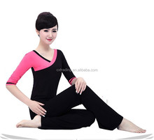 Ladies /women High Quality Both Sides Can Wear Color Matching Yoga Long Sleeve Yoga Suit