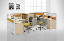newest 40mm thick popular Office combined Workstation low steel Partition customized modern design 4-seater workstation