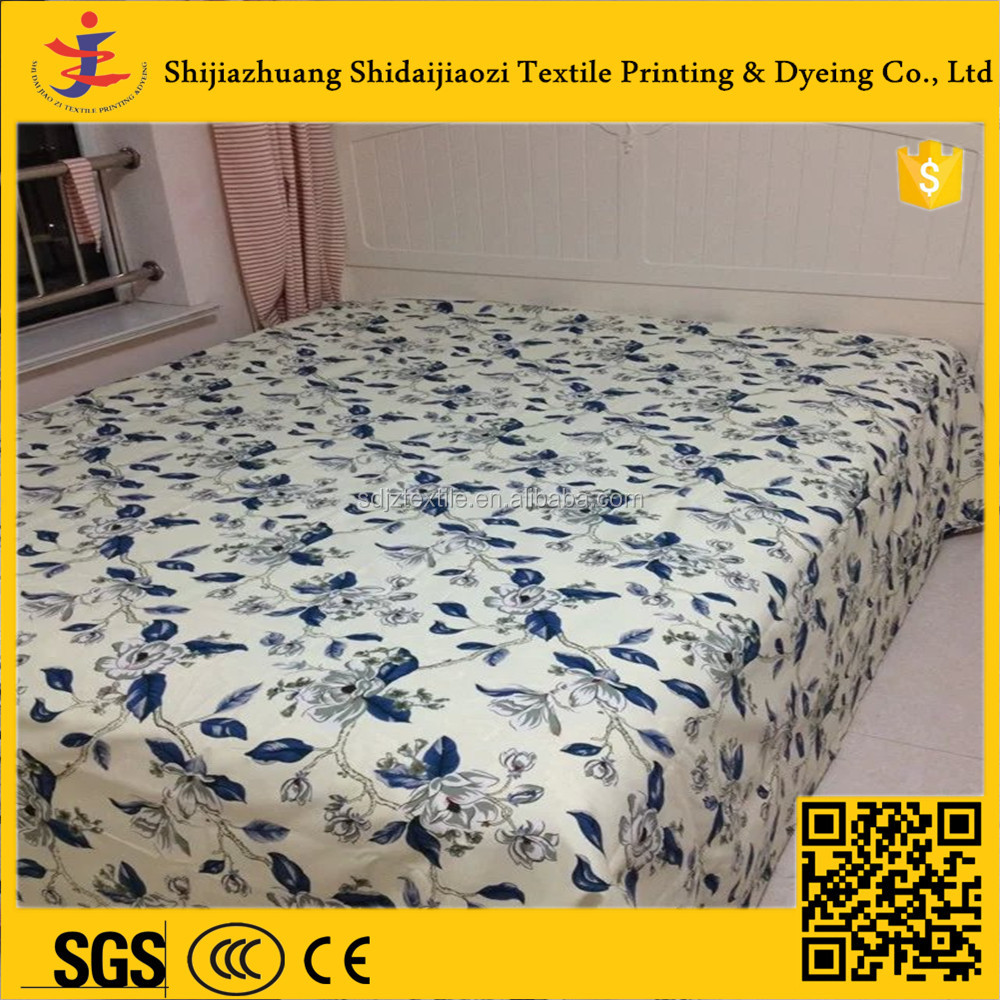 2014 New Design 100 Cotton Printing Fabric Bed Sheet