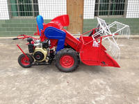 Easy operation wheat/rice tractor mounted combine harvester with paddy wheels