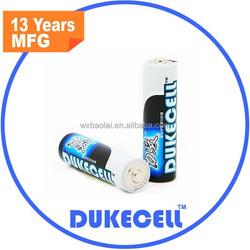 dukecell Brand Alkaline Battery - High Performance Power AA / LR6 1.5V Dry Battery (OEM Brand is welcome)
