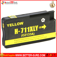Quality compatible hp 711 ink cartridge YELLOW with genuine cartridge printing performance