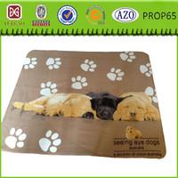 Polyester fleece dog paws print pet Soogan