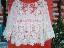 moda borla sleevesless ganchillo de algodón blanco mujeres señora chaleco chaleco de algodón