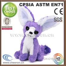 Personalized sitting soft plush toy fox cute toys