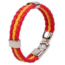 2014 Latest Fashion Charm brazil PU Leather Bracelet