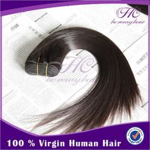 Natural remy hair extension double track hair extension