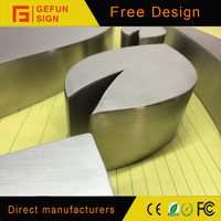 High quality fabricated stainless steel wholesale metal letters