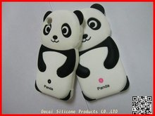 New Black White Panda Bear Soft Silicone Cellphone Case for Iphone 4