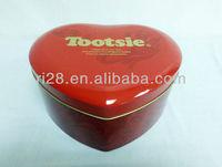 Big heart shaped wedding candy tin box packaging