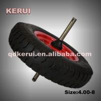 wheel barrow tyre 480 400-8 air wheel and pu foam wheel