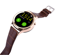 2015 Alibaba Express watches men Health heart rate wrist round smart watch phone for iphone 6s