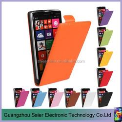 simple design flip leather case cover for nokia lumia 520